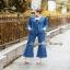 ชุดจั๊มสูทยีนส์เกาหลี+เกาะอก ผ้ายีนส์เกาหลีแท้ thumbnail 5