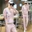 สื้อผ้าแฟชั่นเกาหลีพร้อมส่งชุดเซท 2 ชิ้น เสื้อแขนยาว++กางเกงขายาว thumbnail 2
