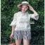 Lady Ribbon Chloe Cut-Out Top and Striped เสื้อคอตตอนแต่งลูกไม้ thumbnail 4