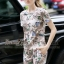 Lady Ribbon Online ขายส่งเสื้อผ้าแฟชั่นออนไลน์ เสื้อผ้า Normal Ally NA12080816 &#x1F389Normal Ally Present Japan flower print summer set&#x1F389 thumbnail 3