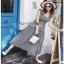 Chic Ruffle Checked Lady Ribbon Cotton Dress thumbnail 1