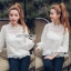 Lady Ribbon Classic Sweet White Lace Blouse thumbnail 2