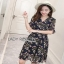 Lady Ribbon Nasha Mixed Wild Floral Printed Chiffon Ruffle Dress เดรสผ้าชีฟอง thumbnail 3