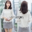 Lady Ribbon Natalia Cotton Cropped Blouse thumbnail 1