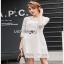 Lady Ribbon Basic White Lace Dress thumbnail 2