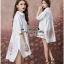 Lady Ribbon Online ขายส่งเสื้อผ้าออนไลน์ Very very pretty VP06030816 Smart Chic Embroidery Cotton shirt Dress thumbnail 3