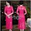สีชมพูบานเย็นชุดเดรสเกาหลี thumbnail 1