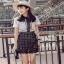 Lace Mix Dress Lady Ribbon เดรสลายเพชร thumbnail 4