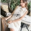 Lady Ribbon White Lace Shirt Dress เชิ้ตเดรส thumbnail 4