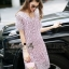 Lady Ribbon Online เสื้อผ้าออนไลน์ ขายส่ง normal ของแท้ NA08140716 &#x1F389Normal Ally Present embroider crystal neck elegant dress thumbnail 2