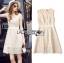 Lady Ribbon Online ขายส่งเสื้อผ้าออนไลน์เลดี้ริบบอน LR16010816 &#x1F380 Lady Ribbon's Made &#x1F380 Lady Selena Classic Elegant Sleeveless White Mixed Lace Top เ thumbnail 6