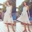 Lady Ribbon Online เสื้อผ้าออนไลน์ขายส่ง Lady Ribbon เสื้อผ้า LR07180816 &#x1F380 Lady Ribbon's Made &#x1F380 Lady Olivia Pure and Classic Strappy White Lace Dress thumbnail 2