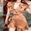 Crepe Lady Ribbon Mini Dress มินิเดรส thumbnail 4