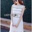 Lady Ribbon Online ขายส่งเสื้อผ้าออนไลน์ ขายส่งของแท้พร้อมส่ง Lady Ribbon LR08250716 &#x1F380 Lady Ribbon's Made &#x1F380 Lady Kate Sporty Sweet White Lace Dress เดรสผ้าลูกไม้ thumbnail 2