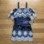 Lady Ribbon Katy Bohemian Mini Dress มินิเดรสเปิดไหล่ thumbnail 5
