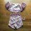 Lady Ribbon Pink Off-Shoulder Top and Shorts thumbnail 5