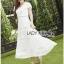 Lady Ribbon Online ขายส่งเสื้อผ้าออนไลน์ เลดี้ริบบอน LR07280716 &#x1F380 Lady Ribbon's Made &#x1F380 Lady Hana Classic Feminine Lace Maxi Dress in White thumbnail 4