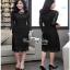 เสื้อผ้าแฟชั่นเดรสผ้าลูกไม้สีดำเรียบหรู เสื้อผ้าแฟชั่นออนไลน์ thumbnail 1