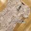 Lady Ribbon ขายส่งเสื้อผ้าออนไลน์พร้อมส่งของแท้ LR15220716 &#x1F380 Lady Ribbon's Made &#x1F380 Lady Jennie Sweet Feminine Nude Guipure Lace Dress เ thumbnail 4