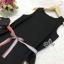 Lady Ribbon ออนไลน์ เสื้อผ้าออนไลน์ พร้อมส่งของแท้ SV04130716 &#x1F389Sevy Sleeveless Color Pleat Side Stripes Mini Dress thumbnail 5