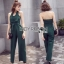 Lady Ribbon Fiona Chic Dark Green Jumpsuit thumbnail 1