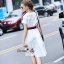 Lady Ribbon Online เสื้อผ้าออนไลน์ขายส่ง Normal Ally เสื้อผ้า NA09150816 &#x1F389Normal Ally Present Gucci New collection 2016 Dress &#x1F389 (เดรส + เข็มขัด) thumbnail 4