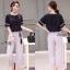 Lady Ribbon Online เสื้อผ้าออนไลน์ขายส่ง Normal Ally เสื้อผ้า,NA02220816 &#x1F389Normal Ally Present cusual shirt and pant and asia style belt&#x1F389 (เสื้อ + กางเกง, เข็มขัด) thumbnail 1