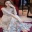ชุดเดรสผ้ามุ้งเกาหลีสีขาว thumbnail 4