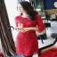 Cliona mini dress สีแดงสด แขน 5 ส่วน thumbnail 1