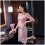 Lady Ribbon Online เสื้อผ้าออนไลน์ ขายส่ง VP02110716 Luxury Embroidered Flowers Lace Dress thumbnail 3