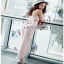 Lady Ribbon Baby Pink Crepe Jumpsuit thumbnail 4