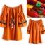 Normal Ally Present Korea rope pin style dress&#x1F389 (เดรส, แต่งเชือกตุ้มเม้งสลับสี) thumbnail 8