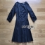 Lady Ribbon Brady Black Cotton Pleated Dress thumbnail 5
