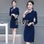 Dress คอจีน ทรงสวยเนื้อผ้าคอตตอนผสมโพลีเอสเตอร์ thumbnail 2