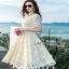 Lady Ribbon Nasha Sweet Classic White Lace Dress with Belt thumbnail 2