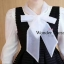 เสื้อแขนยาวสีขาว ผ้าฟองน้ำลุคก์เกาหลี แฟชั่นเซทเอี๊ยม thumbnail 3