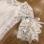 Classic White Lace Dress Lady Ribbon เดรสผ้าลูกไม้สีขาว thumbnail 5