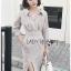 Cotton Shirt Dress Lady Ribbon ขายเชิ้ตเดรส thumbnail 3