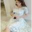 Grace Pastel Flower Lace Dress Lady Ribbon เดรสผ้าลูกไม้ thumbnail 2
