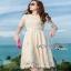 Lady Ribbon Nasha Sweet Classic White Lace Dress with Belt thumbnail 1