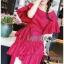 Dress Lady Ribbon ขายเดรสแดงผ้าลินิน thumbnail 5