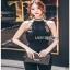 Black Crepe Jumpsuit Lady Ribbon จั้มป์สูทสีดำ thumbnail 2