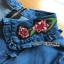 Lady Ribbon Sara Denim Mini Dress with Buttons thumbnail 7