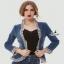 เสื้อคลุมสไตล์เกาหลี ดีไซน์ผ้า denim ฟอกสีสวย thumbnail 3