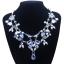 y1459 - สร้อยหิน สร้อยคอ สร้อยหินนำโชค เครื่องประดับ crystal flower necklace collarbone chain thumbnail 2