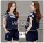 Lady Ribbon Online ขายส่ง เสื้อผ้าออนไลน์ ของแท้ ราคาถูกพร้อมส่ง เลดี้ริบบอน LR10140716 &#x1F380 Lady Ribbon's Made &#x1F380 Lady Charlotte Striped Top with Ripped Tank Top and Shorts thumbnail 2