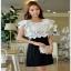 Lady Ribbon Silk Mini Dress ขายส่งมินิเดรส thumbnail 2