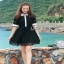 Shirt Dress เชิ้ตเดรสแขนสั้นผ้าลูกไม้สไตล์เฟมินีน thumbnail 5