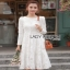 Dress เดรสผ้าลูกไม้สีขาวไสตล์คลาสสิก thumbnail 5