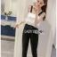 Black Crepe Jumpsuit Lady Ribbon ขายจัมป์สูท thumbnail 1